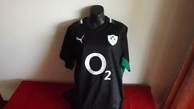 Ireland Offical Puma  Black Jersey In Great Cond 3Xl
