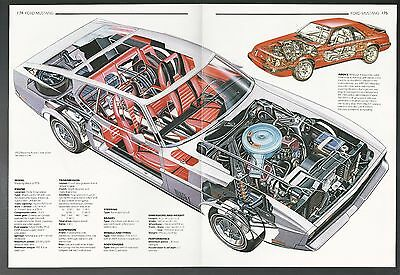 1972 FORD MUSTANG MACH 1  2-page Cutaway Illustration