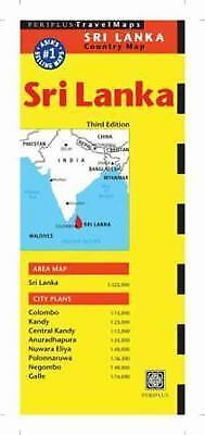 Sri Lanka Travel Map by Periplus Editors (2014, Map, Other, Revised)
