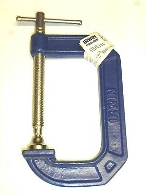 "New! Irwin Quick-Grip Industrial Tools 4"" C-Clamp, 225104"