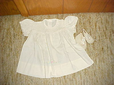 Vintage Baby Dress And Booties