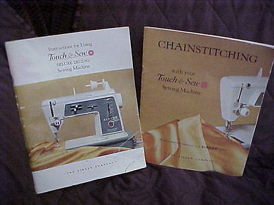 3 Instructional Booklet For Singer Touch And Sew Sewing Machine