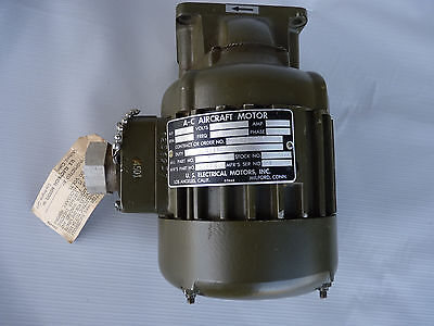 A-C Aircraft #93418 Electric 1 hp U. S.  Electrical Motor 3 Phase 2500 RPM 4 AMP
