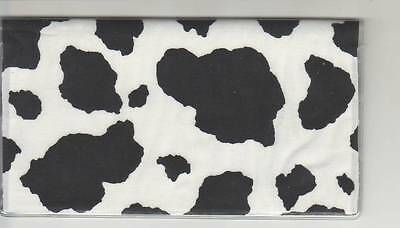 Cow Print Checkbook Cover Brand New  Fabric