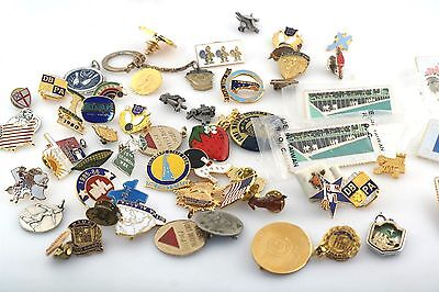 Large Lot Vintage Bowling Pin Character Delaware Stamp Gold Filled