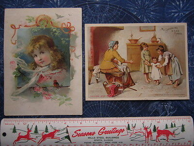 Lot 2 McLaughlin's Coffee Advertising Trade Cards Easter Baby's 1st Step hj1571
