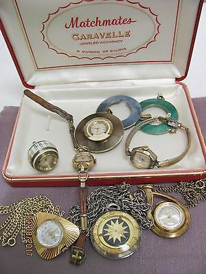 Lot Ladies Swiss Watches Repair or Parts Rare Styles Pendant Bubble Wrist Case