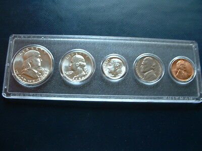 1950 Philadelphia Uncirculated 90% Silver, Nickel, Copper 5-Coin Set Business