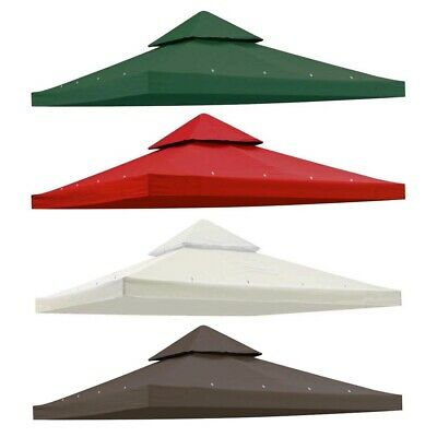 10'x10' 2-Tier Gazebo Top Replacement Canopy Outdoor Pavilion Sunshade Cover