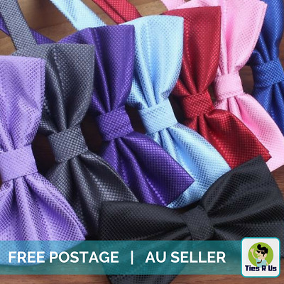 Men's Bow Tie in Classic Colours - Pre-Tied, Stylish Pattern, Wedding, Groom