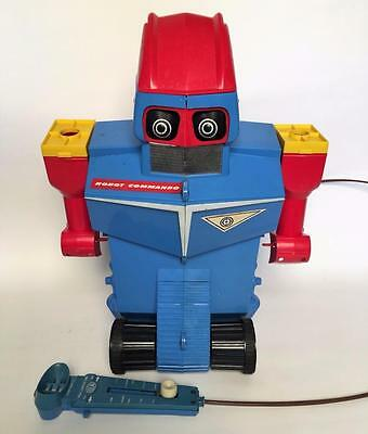 Vintage Ideal Toys Battery Operated Robot Commando Nice Shape & One Ball No R