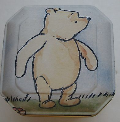 Winnie the Pooh Candle Tin Disney Pastel Scented Unused Octagon Square Box