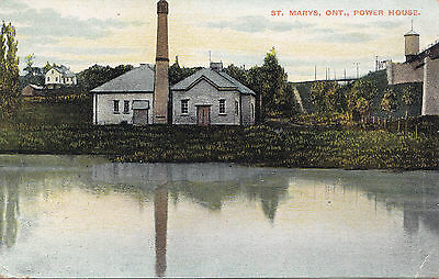 The Power House ST. MARYS Ontario Canada 1911 Illustrated Post Card Co.