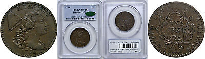 1794 Large Cent PCGS XF-45 CAC Head of 1794