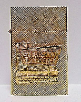 """Vintage """"Thin Lighter"""", Gold Florentine Finish, Construction Co., Made In USA,"""