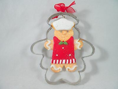 Gingerbread Cookie Boy in Cookie Cutter Christmas Tree Ornament new holiday