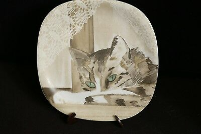 Minou-ettes by C. Pradalie 1985 Green Eye Kitty Cat Plate