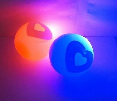 12 Party Favor Flashing Light Up Bouncy Ball 50mm - Heart