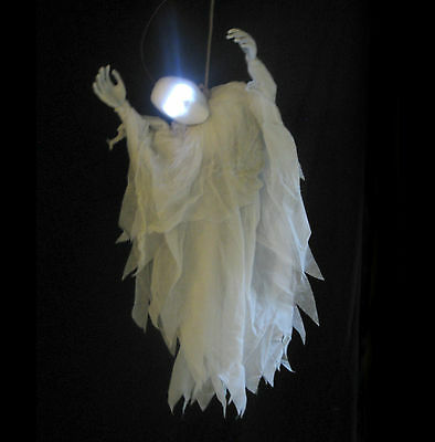 """Lighted Hanging Ghost Scary Noose Haunted House Halloween Party Decoration 36"""""""
