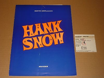 Hank Snow/Tex Withers 1971 Tour Programme + Ticket + Handbill