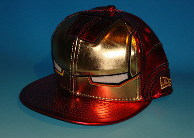 Avengers IRON MAN New Era Exclusive 59Fifty Hat Size 7 1/2 Marvel Comic Fitted
