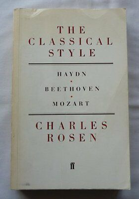 The Classical Style: Haydn, Mozart, Beethoven,Charles Rosen- 9780571049059