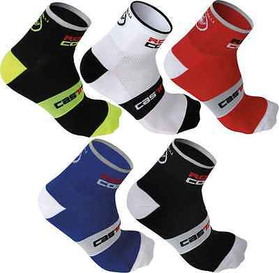 LOT 5 PAIRS Castelli rosso cycling socks