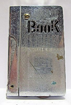 """1950's """"Book"""" Side-Push Lighter Shaped Like A Book, Japan, Working Condition"""