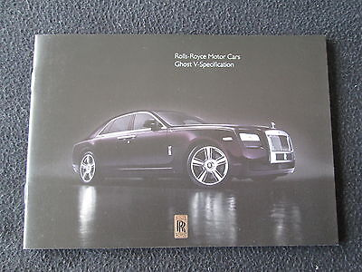 2014 2015 Rolls Royce Ghost V-Specification Brochure Ltd Ed Sales Catalogue