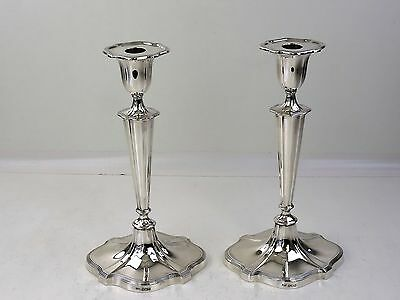 "TOP QUALITY 12"" high PAIR SILVER CANDLESTICKS, Sheffield 1921 29cm tall"