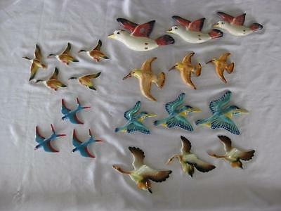 Large Collection Of Assorted Flying Wall Ducks And Birds