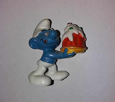 Vintage      Smurf   With   Cake    Made  In  West Germany