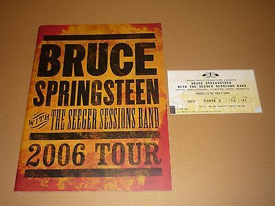 Bruce Springsteen 2006 World Tour Programme + Ticket (Concord, Paris)
