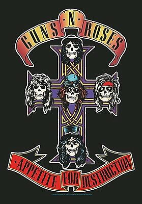 Guns N Roses Appetite For ... large fabric poster / flag   1100mm x 750mm (hr)