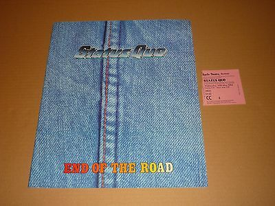 "Status Quo ""End Of The Road"" 1984 UK Tour Programme + Ticket"