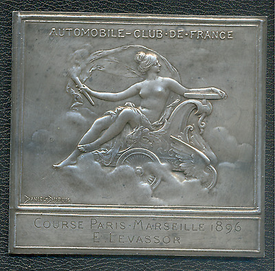 Cast bronze - 3rd Prize for the 1896 PARIS-MARSEILLE-PARIS Race - Daniel Dupuis
