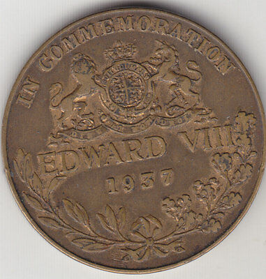 Edward VIII, 1937 In Commemoration Medal.