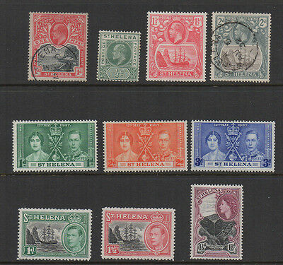St Helena, selection of 10 mint & used.