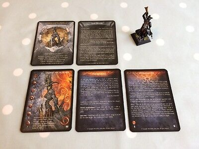 Rackham Confrontation Hybrid Game Garrell The Redeemer Model Painted With Cards