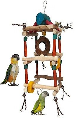 Java Double Tower Small Parrot Cage Toy African Greys,amazons,conures 4603Rmp