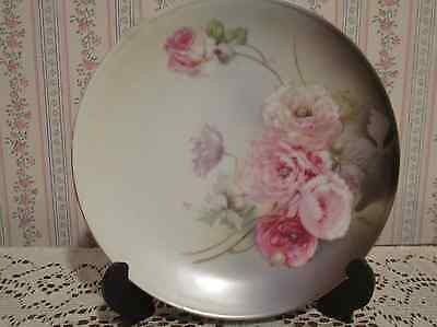 "R S GERMANY Decorative 6"" Plate Pink Roses"