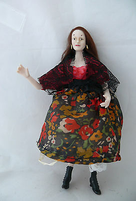 Dolls House Miniature Porcelain Gypsy Woman 1-12TH Scale