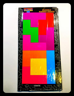 Exclusive Tetris Flexible Magnet Sheets New CALAMITE PER IL FRIGO 9 PEZZI NUOVO