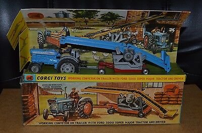 Vintage Corgi Toys Gift Set 47 Ford 5000 Tractor and Conveyor Boxed NMIB