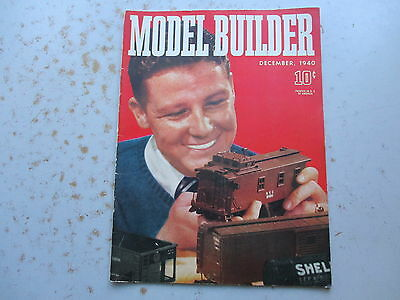 The Model Builder Magazine from LIONEL December 1940 Issue