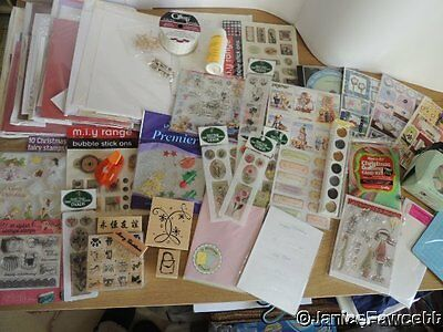 Collection/Job Lot of Papercraft Items Including Stamps, Metallic Rub-ons, Cards