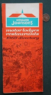 1969 Howard Johnson's Nationwide Restaurant & Hotel directory booklet-Ho-Jo's!