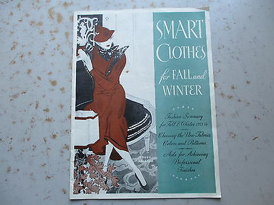 Smart Clothes for Fall and Winter 1933/1934 - Singer Sewing Maching Publication