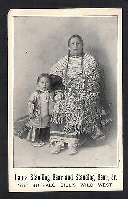 "Red Indian.""laura Standing Bear & Child. Buffalo Bills Wild West"". Old  Postcard"