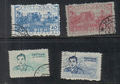 North Vietnam 1955-56 Four used Officials